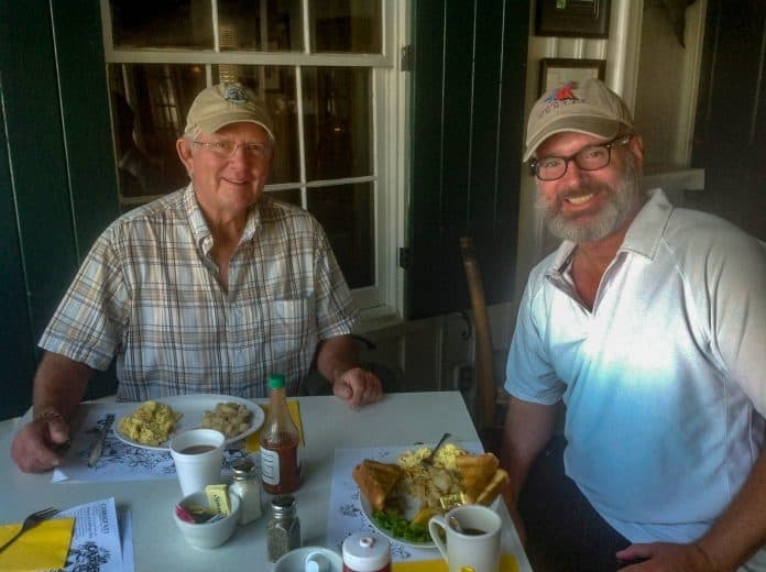 With Rob Wells, owner of Cabbage Key