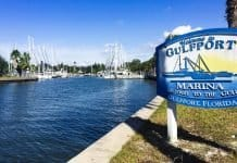 Gulfport Municipal Marina entrance, Gulfport, Florida
