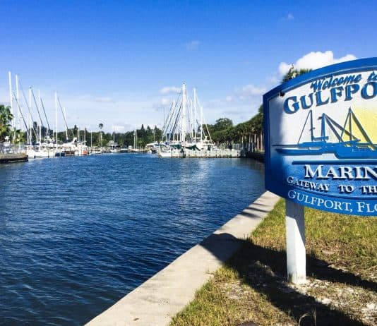 Gulfport Municipal Marina entrance, Gulfport, Florida