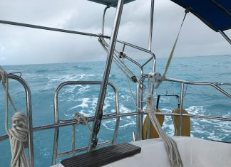 Traveling East up Hawk Channel in s/v Jacie Sails
