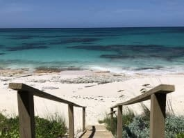 Our view from the cottage at Eleuthera