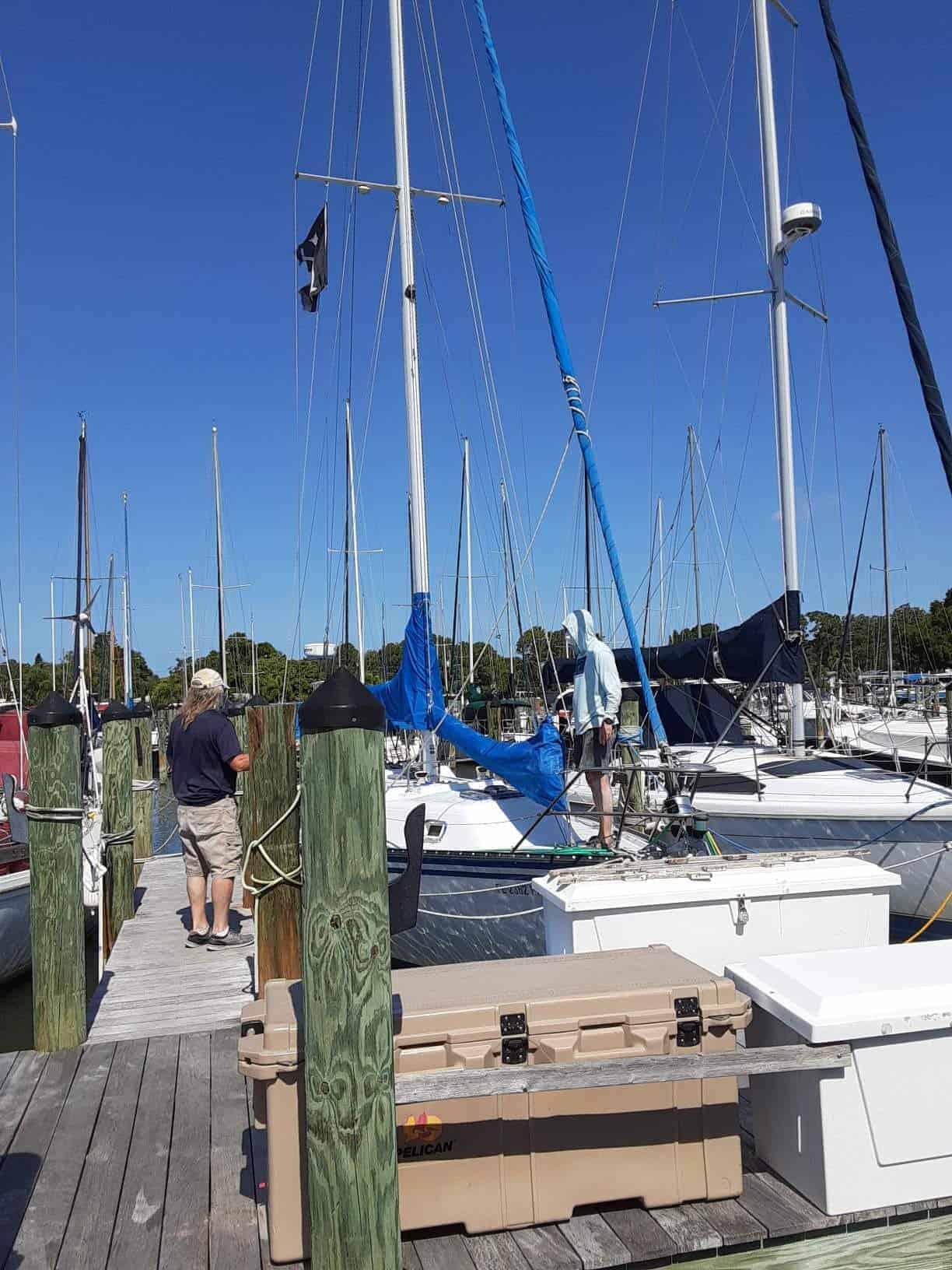 Buoys in Florida Bay north of Marathon Key